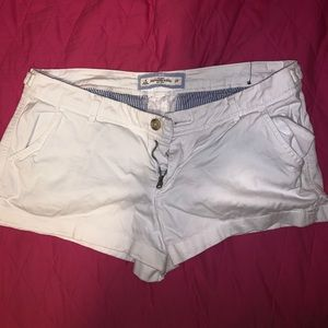 Abercrombie and Fitch white booty shorts